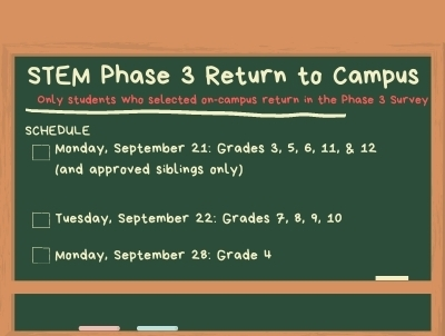 Phase 3 Return to Campus
