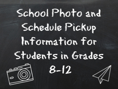 School Photo and Schedule Pickup
